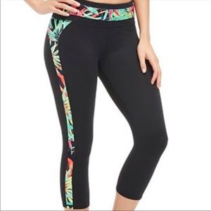 Fabletics | Neon Multi Tropical Crop Leggings